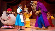 Beauty and the Beast - Disney's Hollywood Studios.  Com um balé de qualidade, personagens que cantam ao vivo, figurino luxuoso e, é claro, a linda trilha sonora do filme, o musical da Bela e a Fera é imperdível!