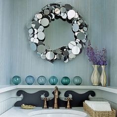 Tour the main level powder room of the 2010 Seabrook Idea House with designer Tim Clarke.