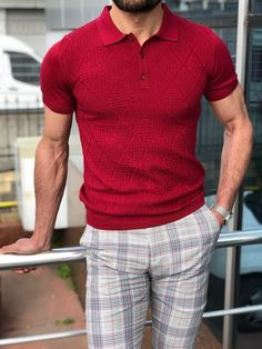Capstone Red Polo Shirt is part of Red polo shirt - TShirt material Cotton , ElestanAvailable Size SMLXLXXLMachine washable Yes Fitting Slim Fit Polo Shirt Outfits, Red Polo Shirt, Slim Fit Polo Shirts, Polo T Shirts, Polo Shirt Style, Summer Outfits Men, Stylish Mens Outfits, Casual Outfits, Men Casual