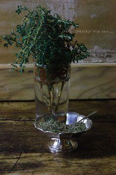 ¿Os gusta fresco o seco? #Tomillo #Aromáticas #Molyvade...#cocinillas molyvade.blogspot.com