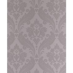 Graham & Brown - Vintage Flock Gray/Silver Wallpaper - 32-358 - Home Depot Canada