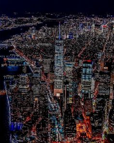 New york city lights Concrete Jungle, City Of Blinding Lights, New York City, Rooftop Bars Nyc, New York Rooftop, Photo New, New York Night, A New York Minute, Voyage New York