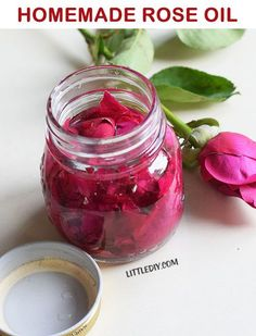 HOMEMADE ROSE OIL FOR SMOOTH SKIN AND HAIR Roses are long known for their skin and hair beautifying properties. Rose extracts are included in a lot of commercial products these days but you cannot really depend on them for best results because of