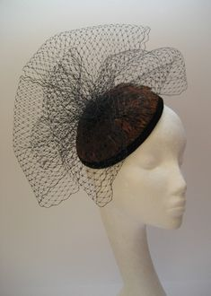 pheasant feather 40s style cocktail hat