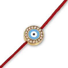 Evil Eye with Diamonds on a Red Cord – Aaron Basha Corp.