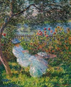Claude Monet, Alice Hoschedé in the Garden, 1881 Private collection Claude Monet, Monet Exhibition, Makeup Wallpapers, Monet Paintings, Chiaroscuro, Japan Art, Water Lilies, Elementary Art, Contemporary Paintings