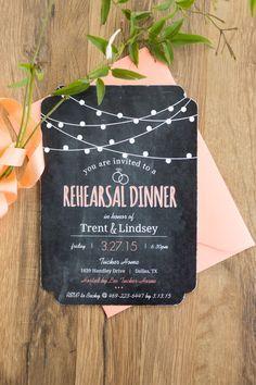 Pretty rehearsal dinner invitations: http://www.stylemepretty.com/texas-weddings/dallas/2015/08/19/intimate-romantic-dallas-spring-wedding/ | Photography: Ben Q. Photography - http://benqphotography.com/
