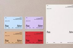 Never Now's identity for homeware store Pan After is a melting pot of clashing typography and colour — The Brand Identity Graphic Design Projects, Graphic Design Posters, Print Design, Visual Identity, Brand Identity, Personal Identity, Logo Inspiration, Minimal Web Design, Business Card Design