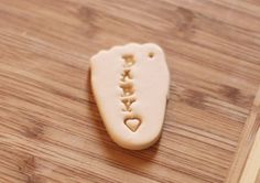 Willow's Tags-Handstamped Memorial baby clay tag- Remembering child or pregnancy loss