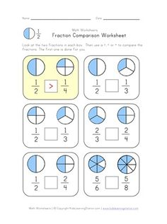 High quality, free fractions worksheets for kids. Check out our collection of fractions worksheets designed to teach kids the basics of fractions. Math Activities For Kids, Math For Kids, Math Games, Math Math, Math Lesson Plans, Math Lessons, Math Fractions Worksheets, Math Graphic Organizers, Math Notebooks