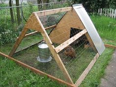 Chicken Coop - chicken coops, chicken coop designs, chicken coop ideas, building a chicken… Building a chicken coop does not have to be tricky nor does it have to set you back a ton of scratch. A Frame Chicken Coop, Small Chicken Coops, Cheap Chicken Coops, Portable Chicken Coop, Chicken Pen, Backyard Chicken Coops, Building A Chicken Coop, Chickens Backyard, Chicken Roost