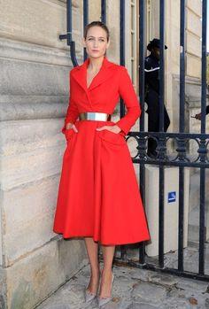 LeeLee Sobieski at the Christian Dior S/S 2013 show at Paris Fashion Week.