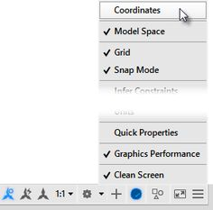 Where did the Coordinate readout in the AutoCAD/LT status bar go?