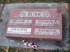 Peace In The Valley, Gardens Of Stone, Famous Tombstones, Celebrities Who Died, Raymond Burr, Hollywood Pictures, Perry Mason, Grave Markers, Famous Graves