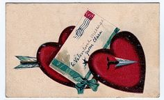Free Valentine Clip Art - Old Postcards - Cherub - Marie - The Graphics Fairy