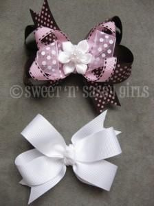 DIY double layers ribbon hair bows