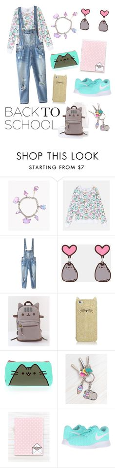 """""""#PVxPusheen"""" by familyquintas ❤ liked on Polyvore featuring Pusheen, Relaxfeel, Kate Spade, NIKE, contestentry and PVxPusheen"""