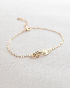 Angel wing bracelet gold bracelet