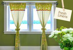 DIY Curtains : DIY Apple Green Panel Curtains