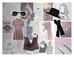 """when the hairpins start to drop"" by mothhime ❤ liked on Polyvore featuring GE, Old Navy, Dr. Martens, Retrò, Opening Ceremony, River Island and modern"