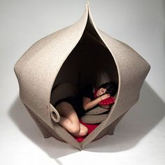 Hide away in HUSH, the womb-shaped chair