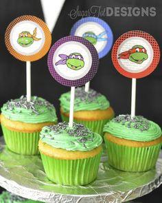 Teenage Mutant Ninja Turtle Party! Trever loves em! Great 7th birthday idea:)