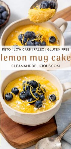 This keto mug cake recipe is made in the microwave and so incredibly easy! Moist and gluten free for an amazing keto treat. #cleananddelicious #lemon #mug #cake #recipe #microwave Healthy Low Carb Recipes, Healthy Dessert Recipes, Cake Recipes, Kids Meals, Easy Meals, Lemon Mug Cake, Clean And Delicious, Rich Cake, Dairy Free