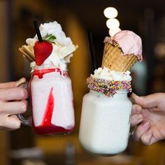 Strawberry Shortcake & Fairy Floss Freakshake at The Depots