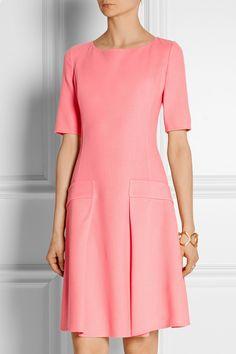 Oscar de la Renta Wool-crepe dress NET-A-PORTER.COM