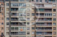 Block of flats near the port in Santander, Spain
