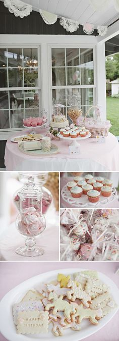 This is a Pretty carousel themed birthday party, but my girls are big so this would be my tea party