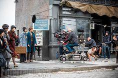 David Yates sur le tournage des Animaux Fantastiques