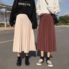 Discover fashion and beauty online with YesStyle! Shop for Skirts - FREE Worldwide Shipping available! Modern Hijab Fashion, Street Hijab Fashion, Muslim Fashion, Modest Fashion, Look Fashion, Korean Fashion, Fashion Outfits, Modest Clothing, Steampunk Fashion