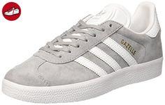 adidas Damen Gazelle W Laufschuhe, Grau (Mid Grey /Ftwr White/Gold Met.), 44 EU - Adidas schuhe (*Partner-Link)