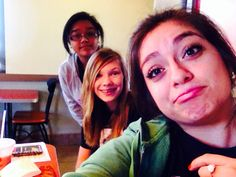 Lolli, Cristal and I on the choir trip to Texas State eating out at Jack in The Box