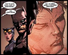 """But his real name is Richard Grayson."" Forever Evil #3"