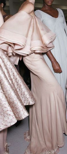 Backstage at Zac Posen