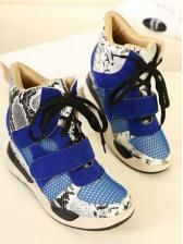 Splicing color snakeskin velcro backing Increased within high shoes $ 29.68