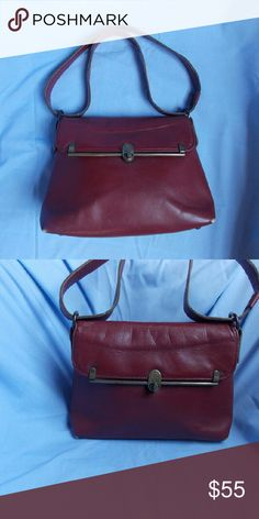 a08550d35681 Vintage Etienne Aigner Oxblood Leather Bag Classic Aigner Style - Good  Vintage Condition