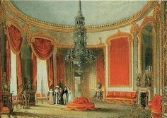 fine arts magazine A typical Regency era interior, showing the ample use of red, an influence of China trade. British Architecture, Georgian Architecture, Regency House, Regency Era, Jane Austen, Royal Pavilion, Empire Style, Environmental Art, Historical Romance