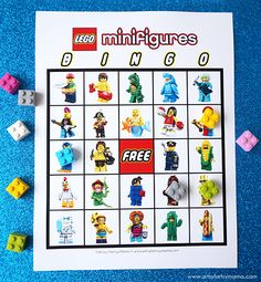 Free Printable LEGO Minifigure Bingo - Best Picture For diy home decor For Your Taste You are looking for something, and it is going to - Lego Party Games, Lego Party Favors, Lego Movie Party, Lego Themed Party, Ninjago Party, Lego Birthday Party, Boy Birthday Parties, Lego Ninjago, Lego Minifigure