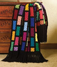 Colorful scraps afghan free pattern, great idea for using bits up. Nice, thanks so for share xox