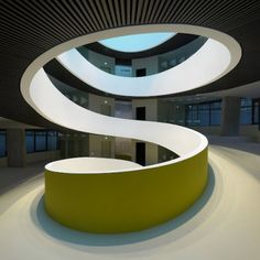 The Cocoon by Camenzind Evolution Architecture// Swivel chair races?...oh yeah!