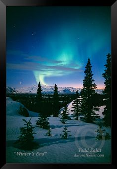 Winter's End, aurora borealis photo from Alaska