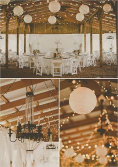 Wedding lighting and tent decorations.