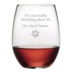 The Dog Is Home 21-ounce Stemless Wine Glasses (Set of 4) | Overstock™ Shopping - Great Deals on Wine Glasses