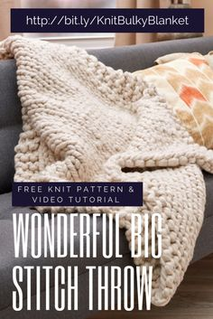 Join Marly and her mom in this video tutorial on how to knit a wonderful big stitch throw pattern with Red Heart Irresistible.