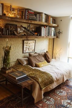 Shelves over the bed