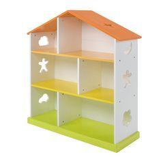 Bibliothèque enfant en forme de maison Jaune/Orange/Blanc - Domi - Les étagères de chambre d'enfants - Les meubles pour chambre enfant - Univers des enfants - Décoration d'intérieur - Alinéa