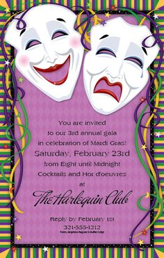 Cute Bridal Shower Idea Once You Receive Your Mardi Gras Invitation Its Time To